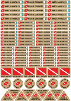 NEW @ Kirk Scuba Gear::Diving Labels :: Waterproof Adhesive Diving Stickers:::8 colour choices to suit everyone's different style. Check out the price....includes worldwide shipping!