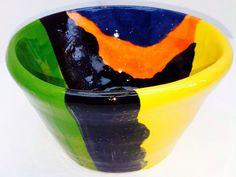 Stoneware. Medium sized Fruit bowl. Mountain Ranges.