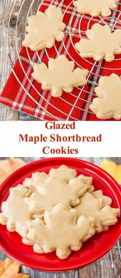 These cookies combine the rich taste of buttery shortbread with the smokey-sweet taste of maple syrup. #mapleshortbreadcookies #mapleleafcookies #canadaday