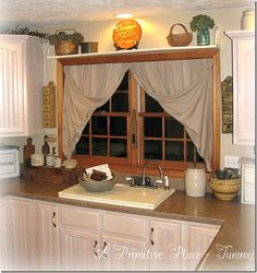 Primitive farmhouse kitchen