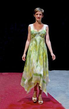 """Feutre Art Textile: Défi n° 1 : """" Le printemps en vert / jaune"""" / Challenge n° 1"""