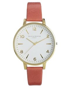 Olivia Burton Coral Large White Face Watch $137.19