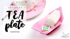 Origami Tea Plate / Dish Tutorial  DIY  Paper Kawaii #origami #paperkawaii