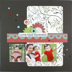 Love this Moment Enchanted #Scrapbook Layout Idea Page from Creative Memories    http://www.creativememories.com