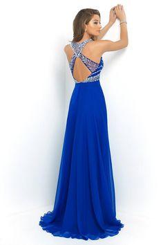 Ulass Elegant Royal Blue Chiffon A-Line Prom Dress 2015 Halter Bandage Backless Sparkly Beading Long Prom Dress New Prom Dresses 2015, A Line Prom Dresses, Dance Dresses, Bridesmaid Dresses, Formal Dresses, Wedding Dresses, Chiffon Dresses, Halter Dresses, Prom Gowns
