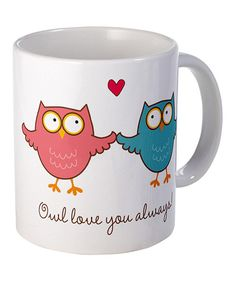 Perfectly sized for plenty of fresh-brewed goodness, this roomy mug features an easy-grip handle for comfortable carrying and a friendly design sure to brighten sleepy mornings. 3.75'' H x 3'' diameterCeramicDishwasher safeImported