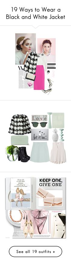 """19 Ways to Wear a Black and White Jacket"" by polyvore-editorial on Polyvore"