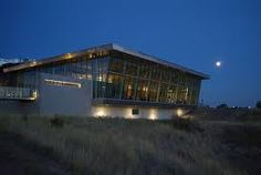 the Galt Museum Lethbridge - just travelled 3000 kms roundtrip to go to my cousin's wedding in Lethbridge, the reception and dance were here, a thunderstorm came sweeping in, thunder lightning RAIN, what a view of the storm from this glass room!