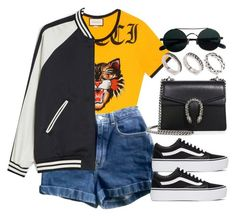 """""""#13985"""" by vany-alvarado ❤ liked on Polyvore featuring Gucci, American Apparel, Monki, Vans and ASOS"""