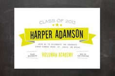 Afterparty Graduation Announcements by Ann Gardner at minted.com