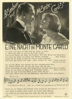 """Hans Albers,Anna Sten,two german megastars in mid 30's;the musical movies were very""""in vogue"""",and Ross published cards with words and music from those movies."""