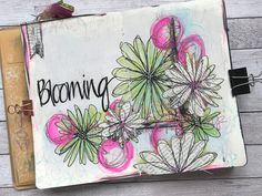 ALBOTAT: Spring is blooming!! Sketched pages, paint and pens