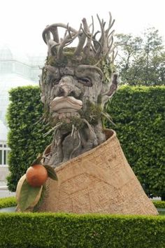 """New York Botanical Garden shows a sculpture by Philip Haas depicting """"Winter"""""""