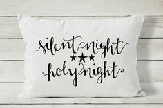 Silent Night Pillow Christmas Pillow Cover Holiday Pillow