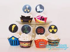 GREAT SCOTT! The future is upon us (again). Bring your Back To The Future theme party to life with these heavy cupcake wrappers and toppers.