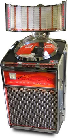 """1962 AMI """"Continental 2″ Jukebox, with Atomic Age/Space Age/Mid-Century styling"""