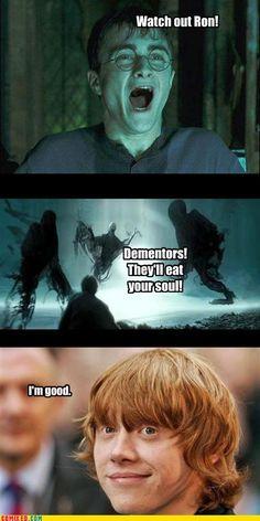 Be a ginger, dementor problem solved!