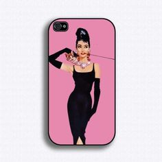 Audrey Hepburn - Breakfast at Tiffany's - iphone case---part of me wants an Iphone just so I ca use this.