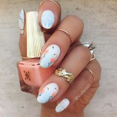 Flamingo Nails fashion summer nails nail polish summer fashion flamingo nail art manicure