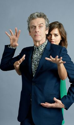 Jenna Coleman and Peter Capaldi for EW. Photo taken at SDCC, July 11, 2015.