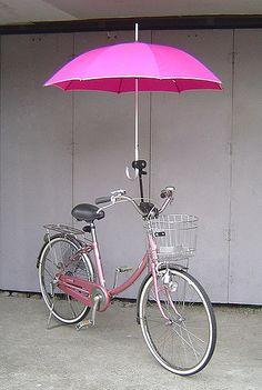 Umbrella holder installed on a Bridgestone Single Tube Size 24.