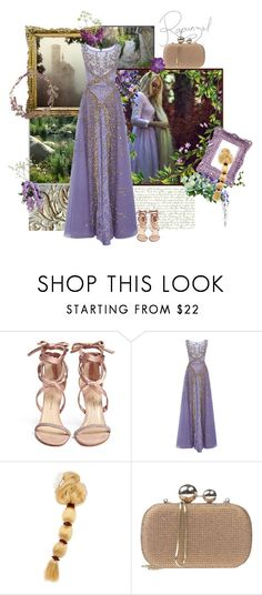 """""""My Long Locks"""" by the-house-of-kasin ❤ liked on Polyvore featuring Paul Andrew, Georges Hobeika, Lola Cruz, disney, FairyTales and gownsgalore"""