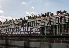 #refugeeswelcome in Padova, Veneto, Italy.  team: Polisportiva San Precario