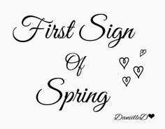 What is the first sign of spring where you live?  |  Danielle D.