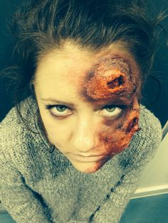 SFX MAKEUP - INFECTED FACE - MUA -Brandon Barns Model- Frances Luck