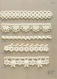 ONLY POINTS: crochet borders