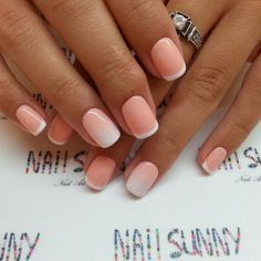 The combination of gradient and french manicure – is a very interesting decision, which came into a fashion not long ago. The design is executed with the h
