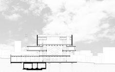 Kongresszentrum Locarno - Querschnitt - Alex Pop, Ralf Mensing, Marius Weber Floor Plans, Pop, Architecture, Locarno, Centre, Arquitetura, Popular, Pop Music, Architecture Illustrations