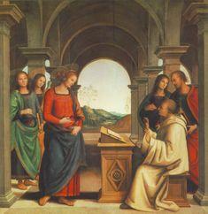 The vision of St. Bernard, 1493 Pietro Perugino
