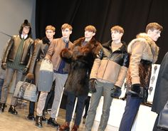 In the backstage of the Fendi Men's Fall/Winter 2014-15 Fashion Show