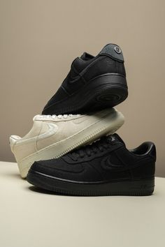 Stussy's dynamic duo of Nike Air Force 1 Lows closes out what will ultimately go down as a year for the ages for the California based streetwear brand. Like its Air Spiridon Caged collection, the AF1 series shows Stussy is still as crafty as ever in its fourth decade in business. Air Force Ones, Air Force 1, Nike Air Force, Stussy S, Jordan 4, Streetwear Brands, Street Wear, California, Crafty