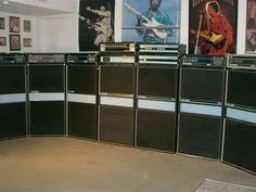 """Vintage """"Acoustic"""" bass amps."""
