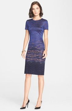 St. John Collection Sunset Jacquard Knit Dress available at #Nordstrom