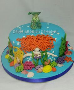 mermaid cake - Cake by Helen Campbell