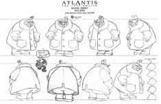 Living Lines Library: Atlantis - The Lost Empire (2001) - Characters: Model Sheets