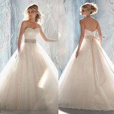 est Women Sweet Slim Princess Sleeveless Korean Style Wedding Dresses Wvb038