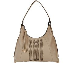 orYANY Pebble Leather Hobo Bag w/ Braided Detail - Alli $259