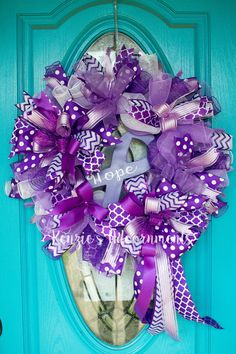 Hope Wreath-Relay for Life by Kenzieu0027s Adoornments Find on FB u0026 Etsy  sc 1 st  Pinterest & Mesh wreath to support Relay for Life | Wreath ideas | Pinterest ...