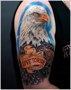 40 Cool biker & Harley Davidson tattoos + the meaning of biker tattoos. Designs inlude: skulls, eagles, engines, the Harley logo, spark plugs and more. Harley Tattoos, Harley Davidson Tattoos, Biker Tattoos, Mandala Art, Girl Tattoos, Tattoos For Guys, Tatoos, Bald Eagle Tattoos, Tattoo Eagle