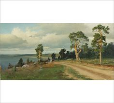 Eero Järnefelt, Landscape (Horse-drawn Carriage)