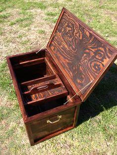 Tack box hand made Diy Storage Trunk, Toy Storage Boxes, Toy Boxes, Diy Toy Box, Diy Box, Wood Shop Projects, Diy Furniture Projects, Tack Locker, Tack Box