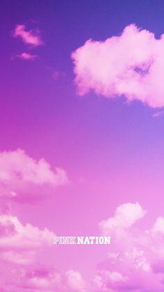Wallpaper SKY: Victoria's Secret pink wallpaper iPhone background nation 2018 spring break cl.