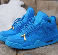 "Air Jordan 4 ""Blue December Customs"""