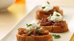Crostini with Caramelized Onion Jam recipe from Betty Crocker