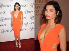 ClioMakeUp-trucco-vestito-abito-arancione-arancio-aranciato-abbinare-ombretto-rossetto-tatum
