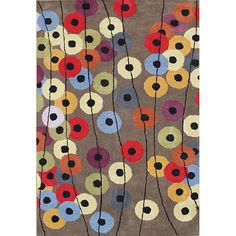 Alliyah Hand Made Tufted Metro Circles Elephant Grey New Zealand Blend Wool Rug (6' x 9') - Overstock Shopping - Great Deals on Alliyah Rugs 5x8 - 6x9 Rugs